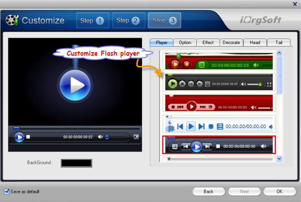 customize flash player
