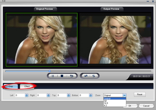 edit crop clip split flash video