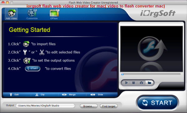 Flash Web Video Creator for mac