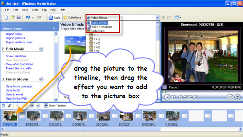 apply effect to slideshow