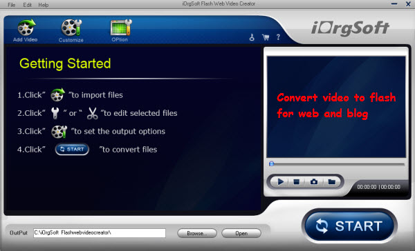 flash web video creator