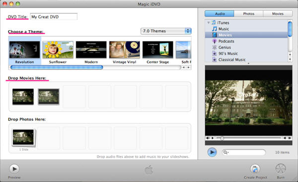 Free Flip to DVD Creator software burn flip video to dvds on Mac