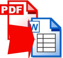 how can i export pdf to word doc