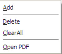 Delete the Added PDF Files