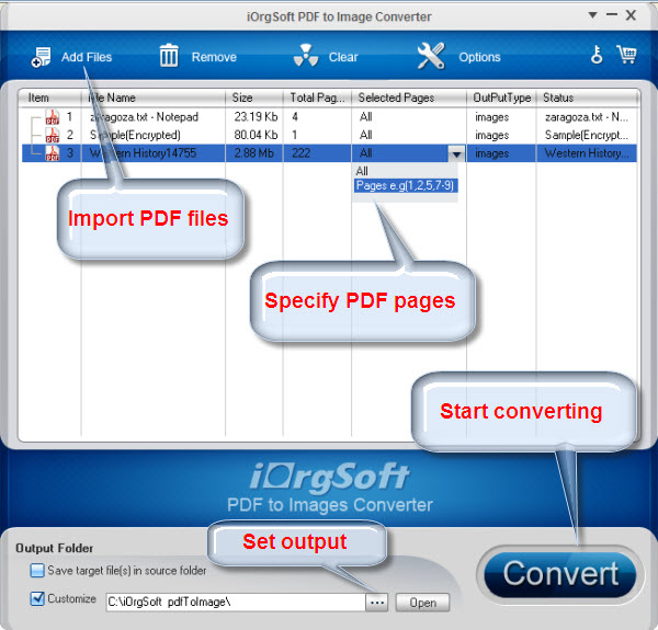 PDF to Image Converter Screen shot
