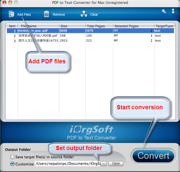 iorgsoft pdf to text converter mac