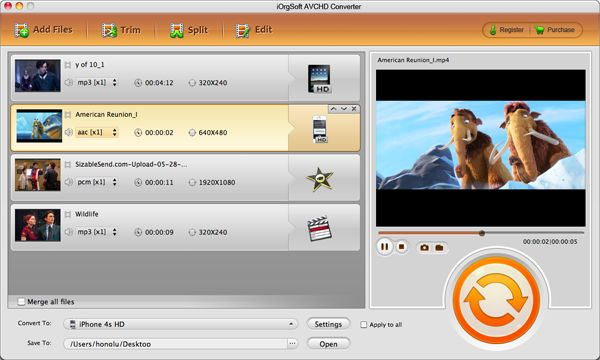 AVCHD Converter for Mac, Convert TS, MTS, M2TS Videos on Mac.