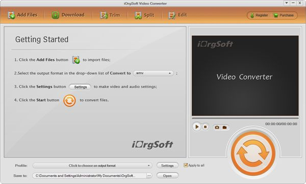 iOrgsoft Video Converter 6.0.0