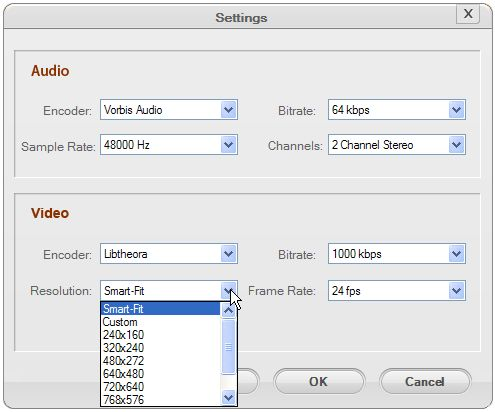 Customize Output Format Settings