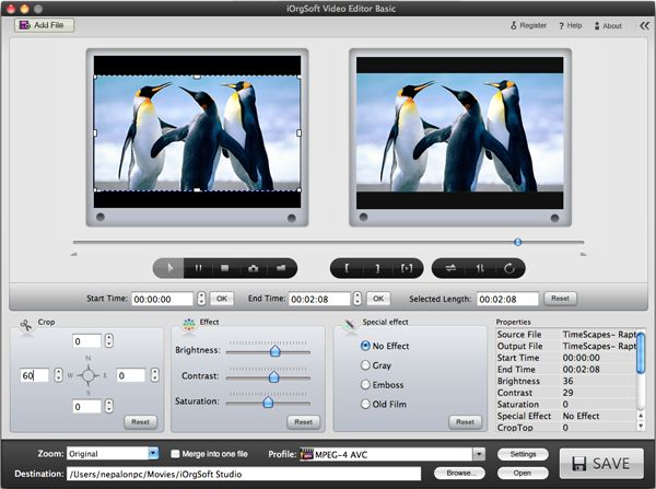 Edit iMovie files on Mac OS with Video Editor for Mac