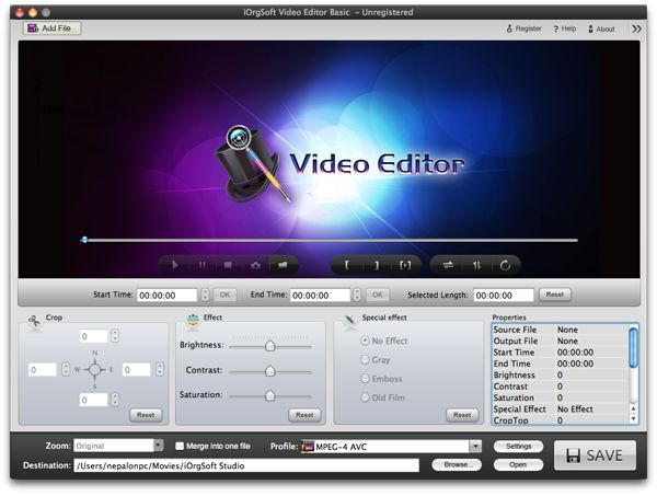 Video Cropper for Mac