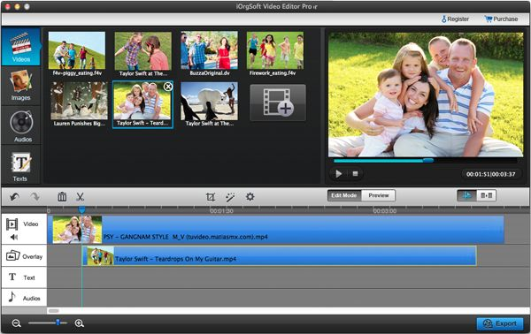 load WMV files to WMV editor for mac